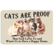 """Cats are Proof"" Floor Mat"