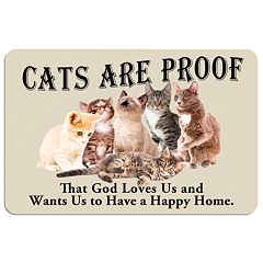 'Cats are Proof' Floor Mat