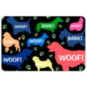 """Woof!"" Dog Floor Mat"