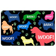 'Woof!' Dog Floor Mat