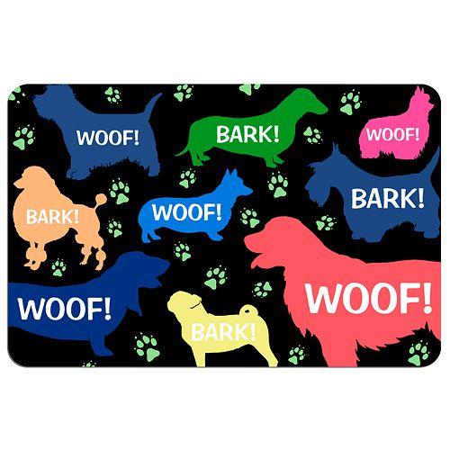 """""""Woof!"""" Dog Floor Mat"""