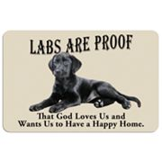 'Labs are Proof' Dog Floor Mat