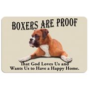 'Boxers are Proof' Dog Floor Mat