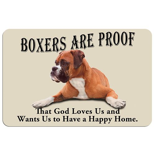 "'Boxers are Proof"" Dog Floor Mat"