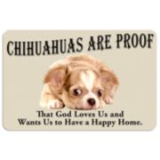 """""""Chihuahuas are Proof"""" Dog Floor Mat"""