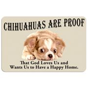 'Chihuahuas are Proof' Dog Floor Mat