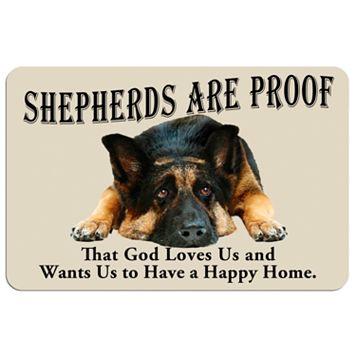'Shepherds are Proof'' Dog Floor Mat