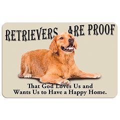 'Retrievers are Proof'' Dog Floor Mat