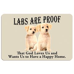 Yellow ''Labs are Proof'' Dog Floor Mat
