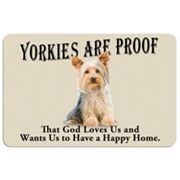 Yorkies are Proof Dog Floor Mat