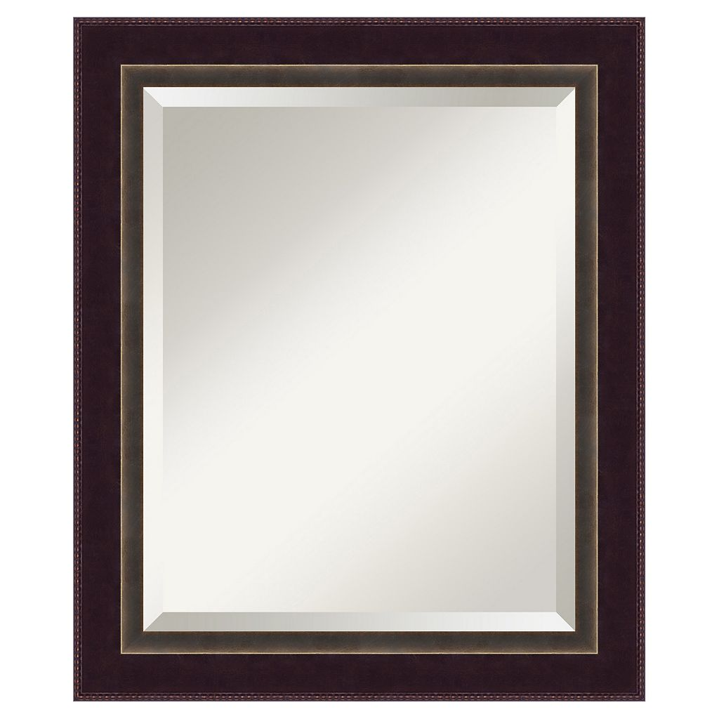 Amanti Art Signore Traditional Wood Bronze-Tone Wall Mirror