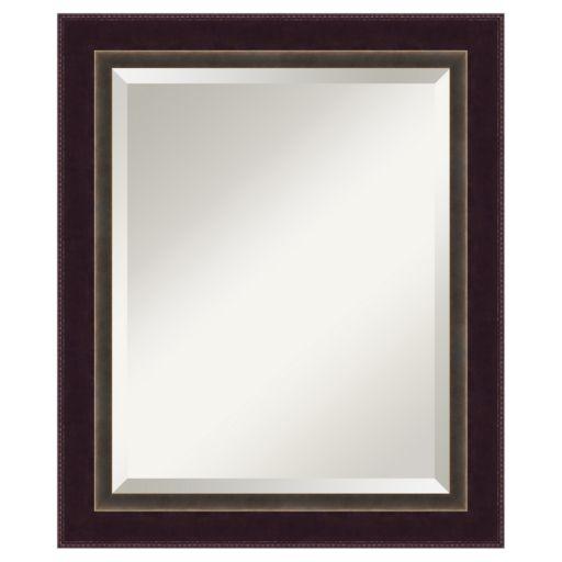 Amanti Art Signore Traditional Wood Bronze-Tone Wall Mirror