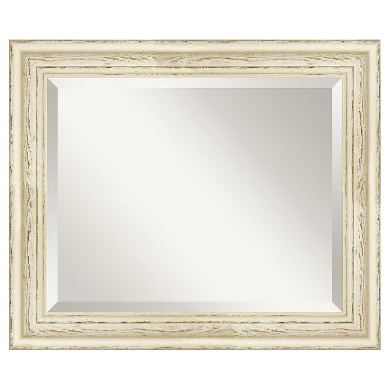 Amanti Art Country Whitewash 20 2/5'' x 24 2/5'' Wall Mirror