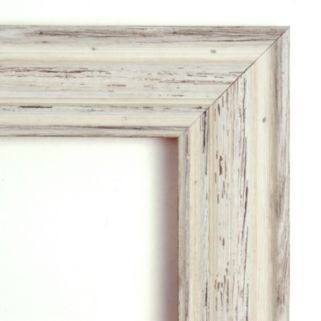 Amanti Art Country Whitewash Distressed Wood Wall Mirror