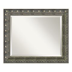 Amanti Art Barcelona 24.3' x 20.3' Pewter Tone Wall Mirror