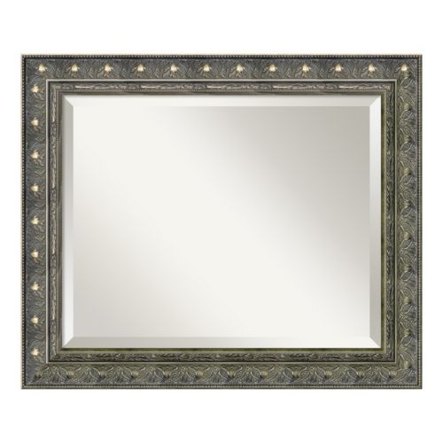 Amanti Art Barcelona 24.3 x 20.3 Pewter Tone Wall Mirror