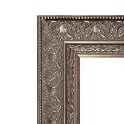 Amanti Art Barcelona 24.3 x 20.3 Pewter Tone Wall Mirror