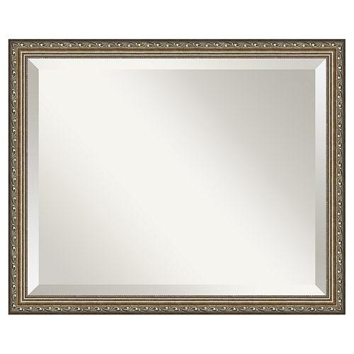 Amanti Art Parisian Silver Finish Traditional Wood Wall Mirror
