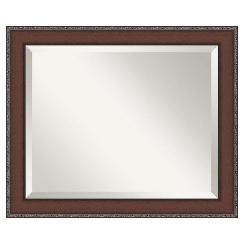 Amanti Art Country Walnut 23 2/5 x 19 2/5 Wall Mirror