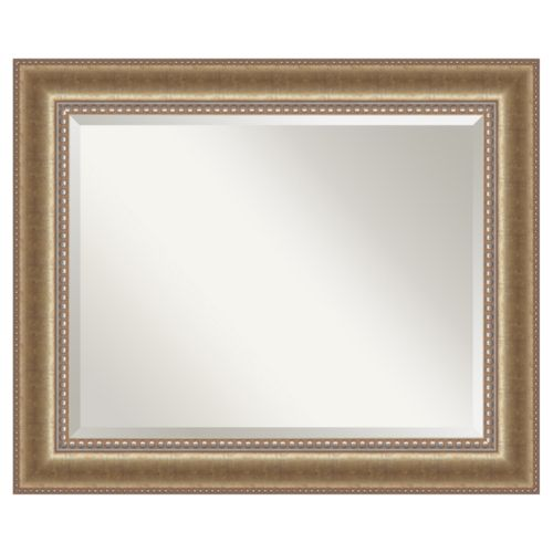 Amanti Art Astoria Large Champagne Finish Wood Wall Mirror
