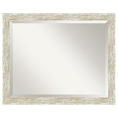 Amanti Art Cape Cod Whitewash Distressed Wood Medium Wall Mirror