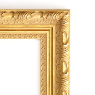 Amanti Art Versailles Gold-Tone Traditional Wood Wall Mirror