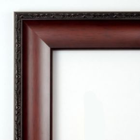 Amanti Art Country Walnut Finish Traditional Wood Wall Mirror