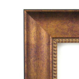 Amanti Art Manhattan Medium Bronze Finish Traditional Wood Wall Mirror