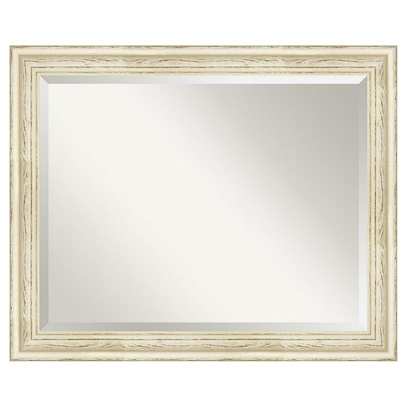 Amanti Art Country Whitewash 26 2/5 x 32 2/5 Wall Mirror