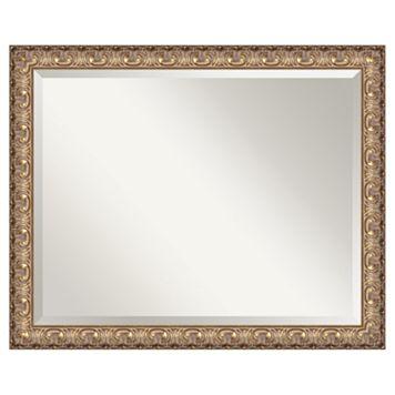 Amanti Art Florentine Metallic Gold Finish Wood Wall Mirror