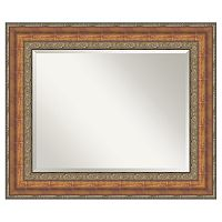 Amanti Art Vienna Bronze-Tone Traditional Wood Wall Mirror