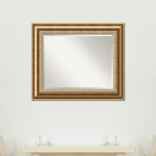 Amanti Art Vienna Bronze-Tone Traditional Wood Wall Mirror