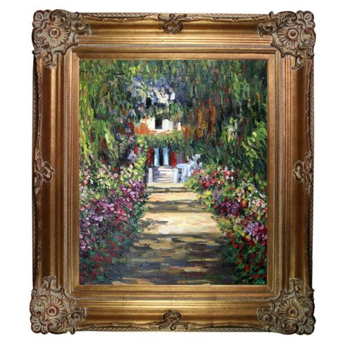 Garden Path at Giverny Framed Wall Art