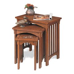 Mission Oak Nesting Table Set