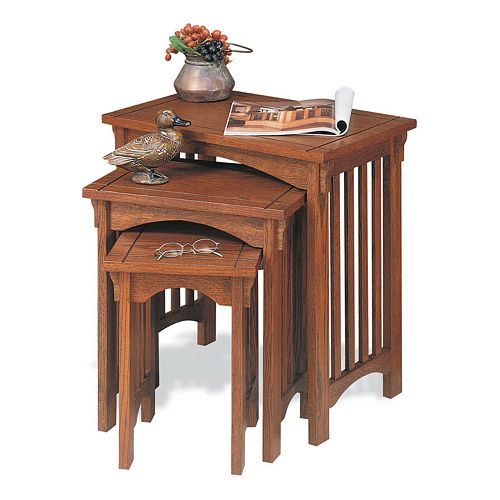 Mission Oak Nesting Table Set