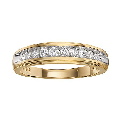 Cherish Always 14k Gold Two-Tone 3/8-ct. T.W. Certified Diamond Ring