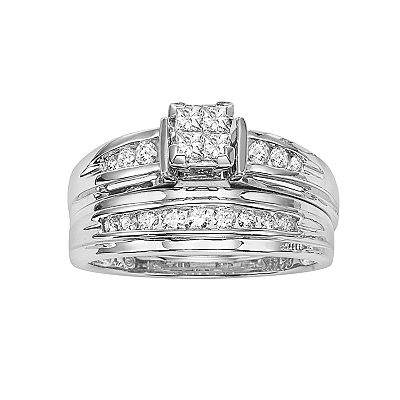 Cherish Always 14k White Gold 1/2-ct. T.W. Certified Princess-Cut Diamond Ring