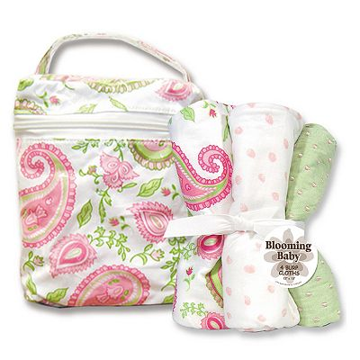 Trend Lab Paisley Bottle Bag and Burp Cloth Set