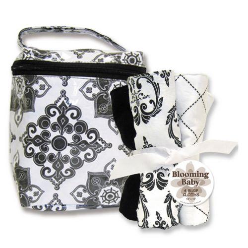 Trend Lab Versailles Bottle Bag and Burp Cloth Set