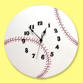 Trend Lab Baseball Wall Clock