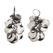 Candie's Jet Disc Drop Earrings