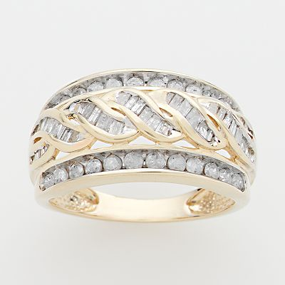 10k Gold 1-ct. T.W. Diamond Woven Ring