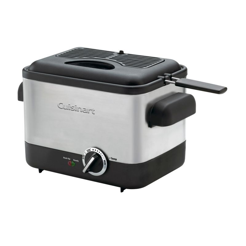 Cuisinart CDF-100 Brushed Stainless Grit one's teeth Compact Deep Fryer