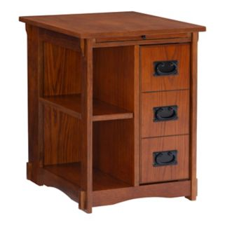 Mission Oak Magazine Cabinet Table