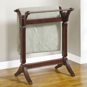 Contemporary Merlot Blanket Rack