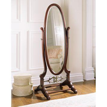 Heirloom Cherry Cheval Floor Mirror