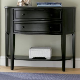 Antiqued Black Console Table