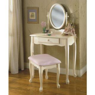 Vanity and Bench Set