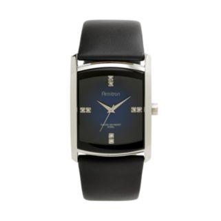 Armitron Men's Crystal Leather Watch - 20/4604DBSVBK