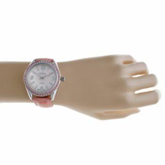 Peugeot Women's Crystal Leather Watch - 3006PK